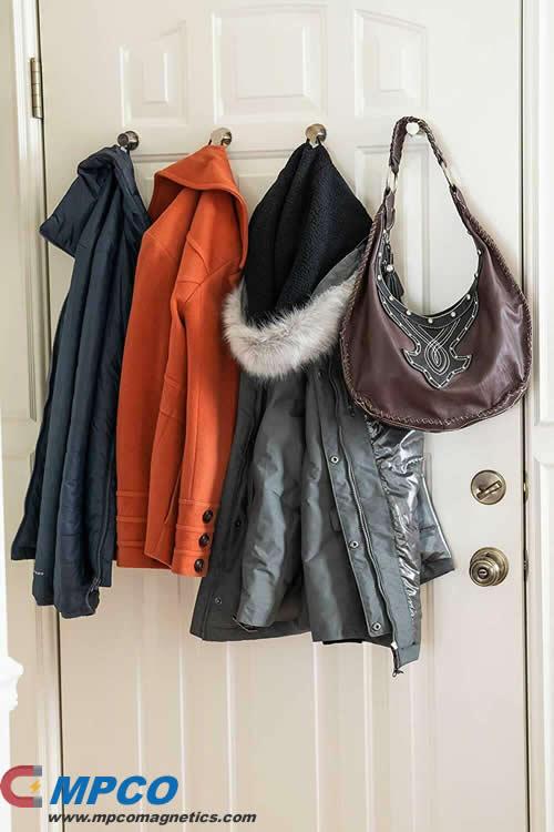 Removable Coats Bags Door Hook Magnets