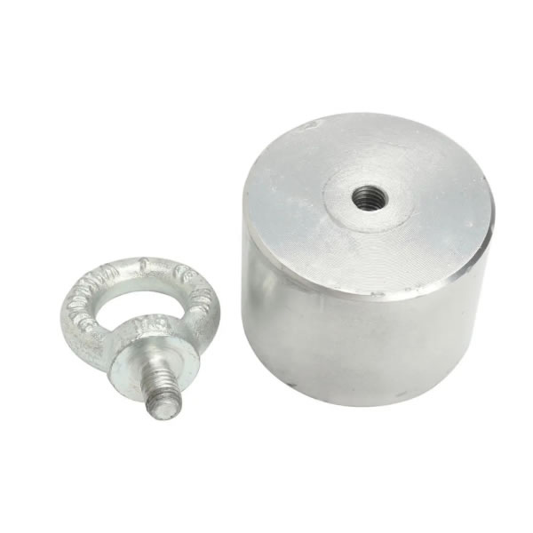 Sea River Fishing Cylindrical Pot Neodymium Magnet with Eyebolt