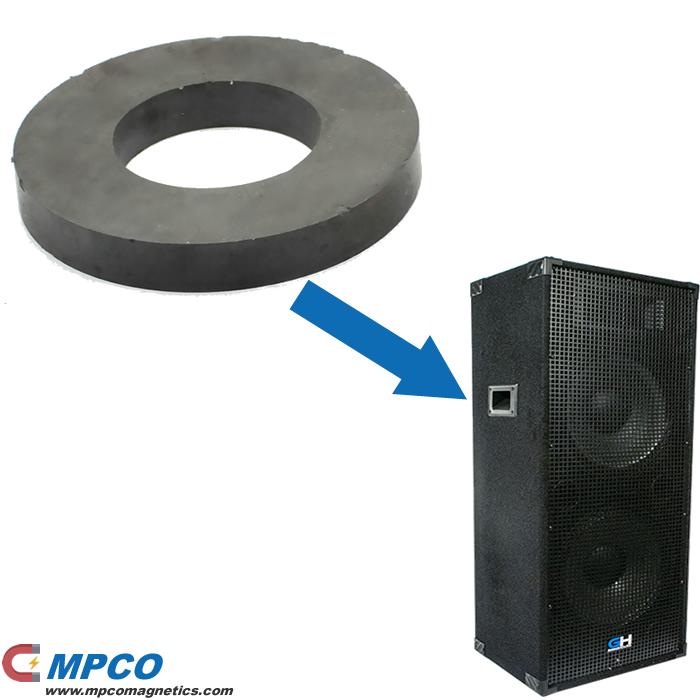 Sintering Ferrite Ring Magnet for Loudspeaker System