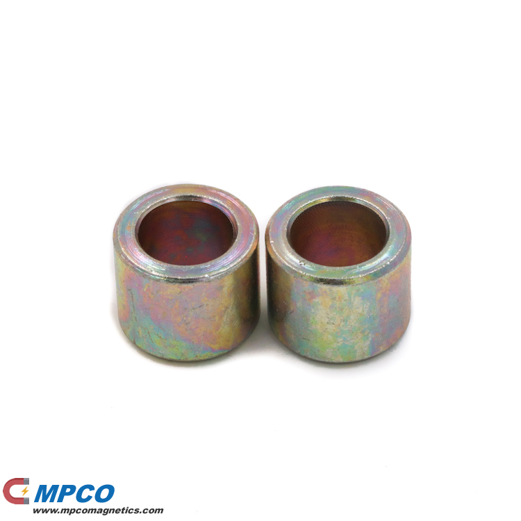 color zinc plating NdFeB permanent cylinder magnet with hole