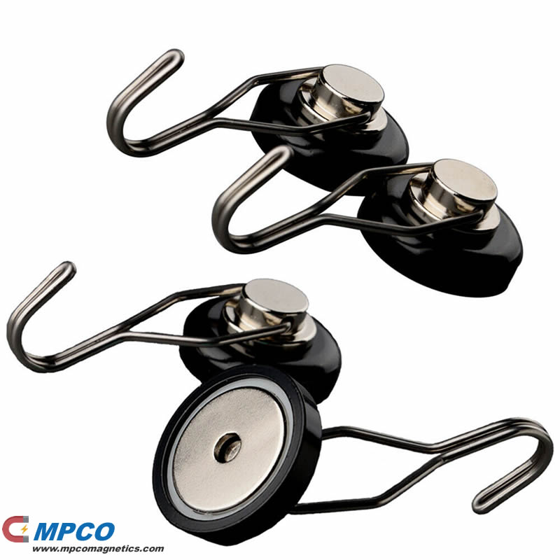 strong rotating neodymium hook magnets