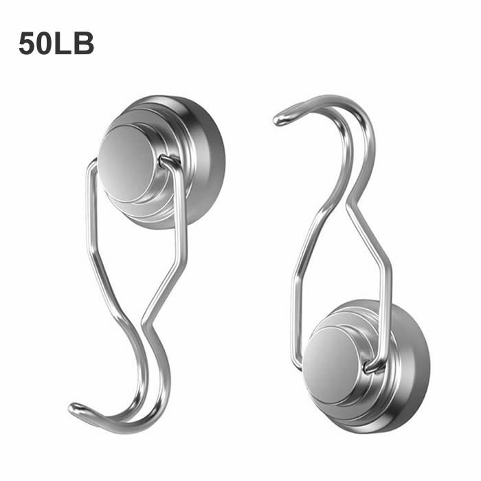 50LB 32mm Diameter Magnetic Rotating Swivel Hook