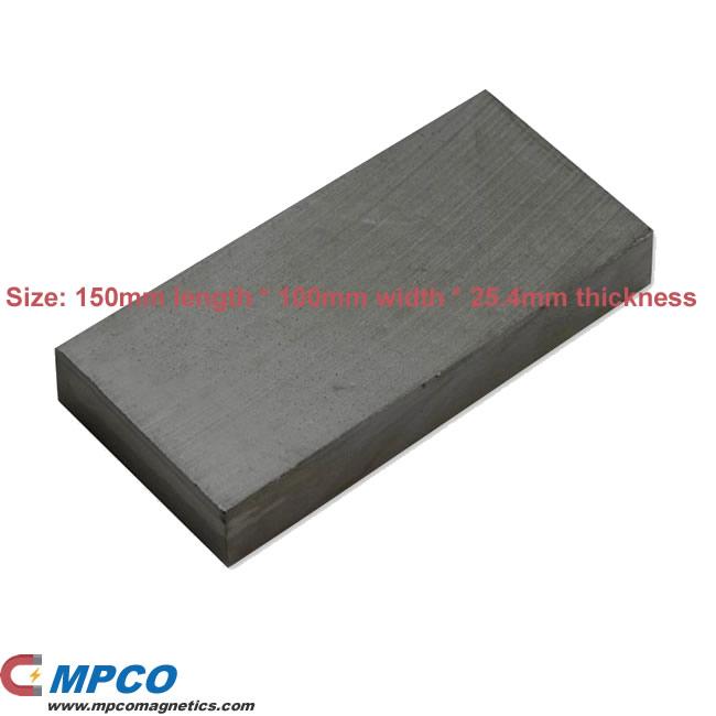 Large Y30BH Rectangular Ferrite Ceramic Block Magnet