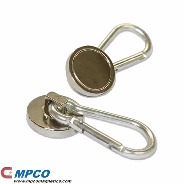 Quick- Release Swivel Magnetic Carabiner Hooks