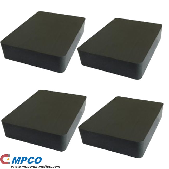 Rectangle Ferrite magnets for magnetic separator