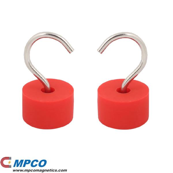 Silica gel coated Neodymium Hook Magnet
