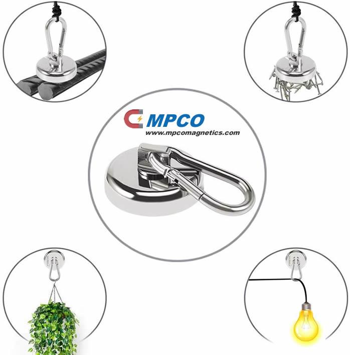 Smart Neodymium Pot Hook Magnet Hanging for Clothes Tools Keys & Bags