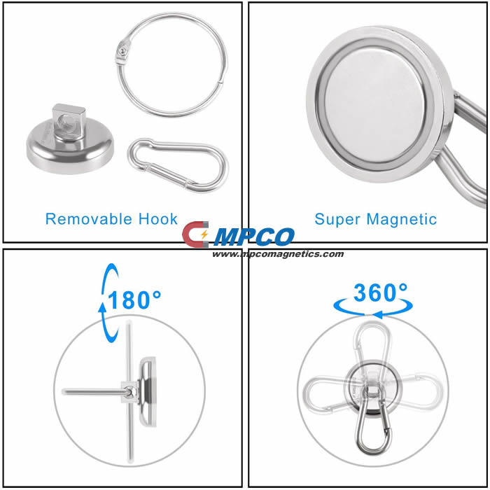 Super Durable Holding Magnetic Carabiner Hook