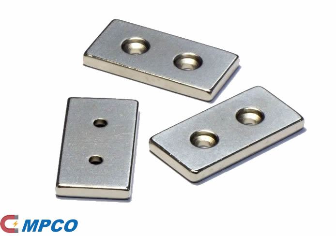 Customized Block Neo Magnets with Two Countersunk Holes