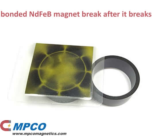 Why does the bonded NdFeB magnet break after it breaks