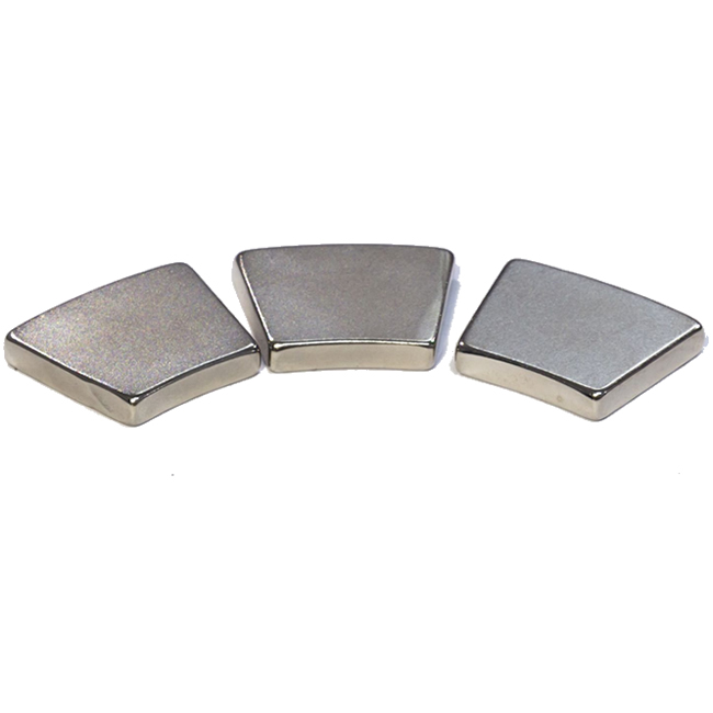 Sintered NdFeB Permanent Magnets Segment Sector Shape N28AH