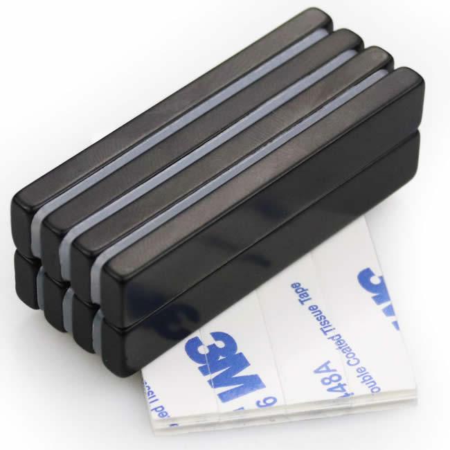 3M Self Adhesive Rectangular Bar Neodymium Magnets w Epoxy Plating