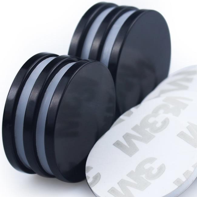 Black Epoxy Coated 3M-Adhesive Disc Round Magnets