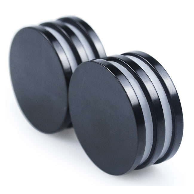 Black Epoxy Coating NdFeB Round Disc Magnets D32x3mm