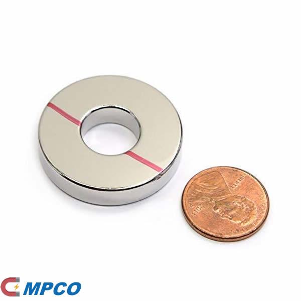 Neodymium Magnet Ring N45 OD1.26inch x ID0.5inch x 0.25inch Thick