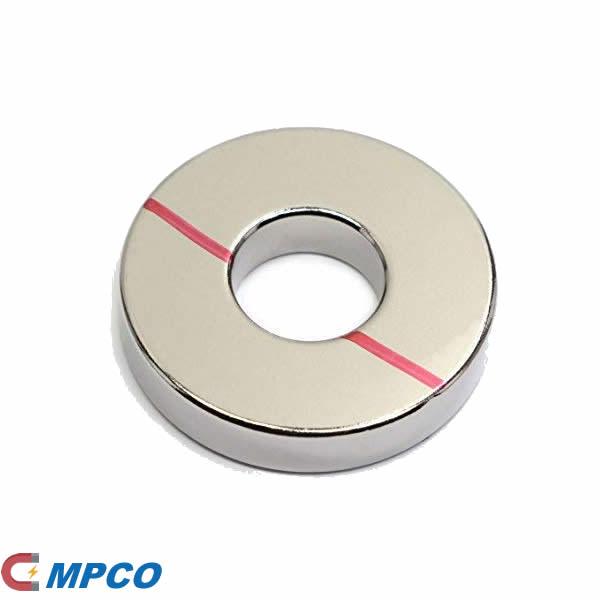 Ni+Cu+Ni Triple Layer Coated radial ring neo magnet