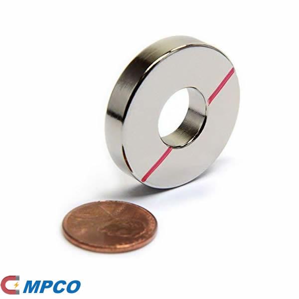 Powerful Grade N45 Ring Neodymium Magnet