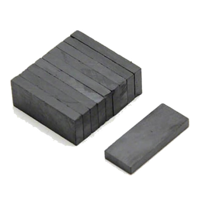 Sintered Anisotropic Ferrite Block Magnets 60X20X4mm