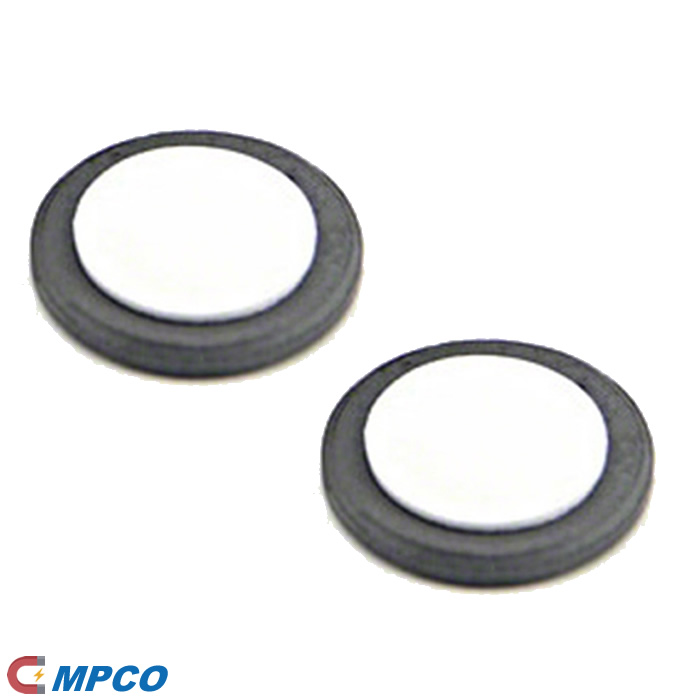 25mm dia x 3mm thick Y10 Round Ferrite Magnet with Self-Adhesive Foam Pad
