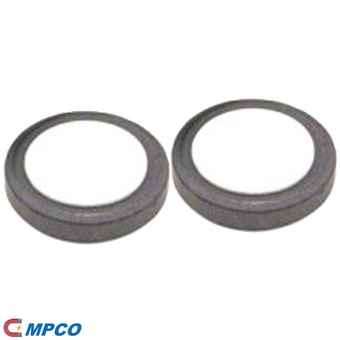 25mm-dia-x-5mm-thick y10 ferrite disc round magnet with adhesive foam pad