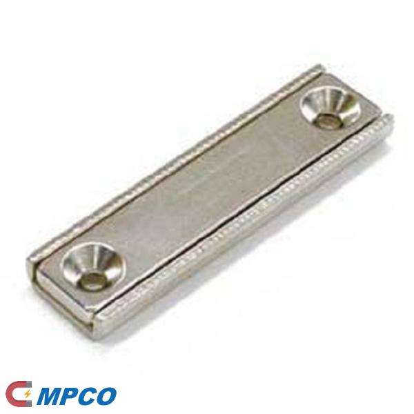 Countersunk Boreholes Channel Pot Magnet 50mm