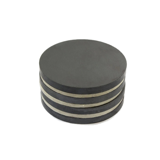Custom Strong Ferrite Magnetic Discs D54mmX7mm