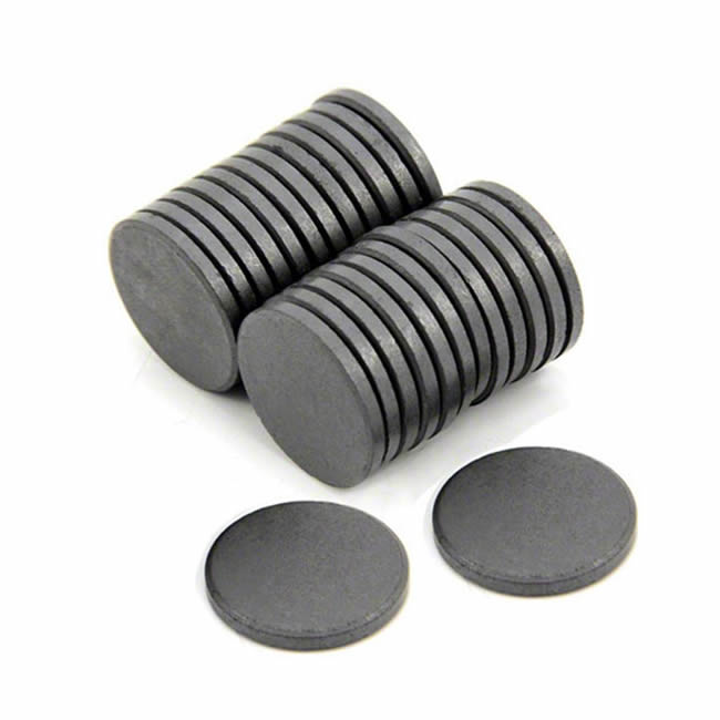 Flat Disk Oriented Anisotropic Ferrite Magnet Y35 D28mmX4mm