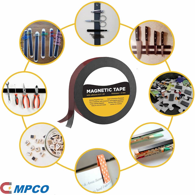 Flexible Magnetic Strip with Strong Self Adhesive