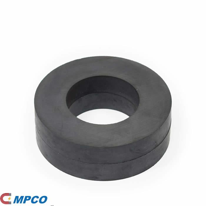 Grade 8 Ceramic Ring Permanent Magnets OD64mm x ID32mm x T10mm