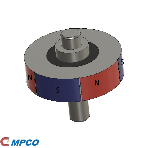 Magnetic rotor With 6-poles Ring Bonded Injection Magnet