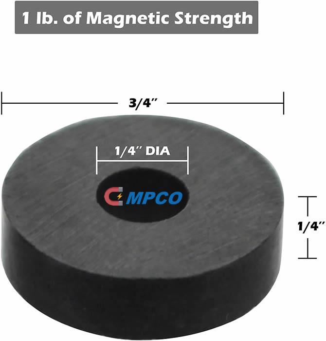 Multipurpose Ferrite Magnetic Disc with Hole Size