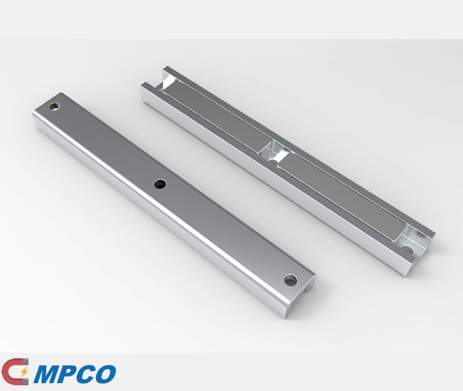 NdFeB U-Channel Permanent Magnets with 3 Holes
