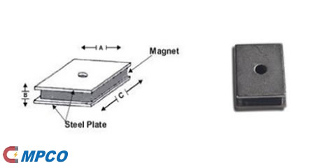Sandwich Permanent Magnet Assembly Dimension