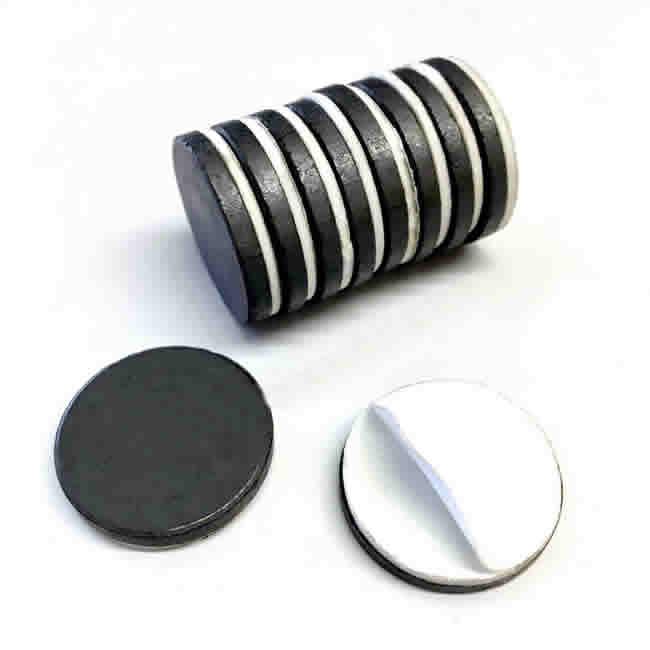 Self Adhesive Round Ceramic Ferrite Magnets