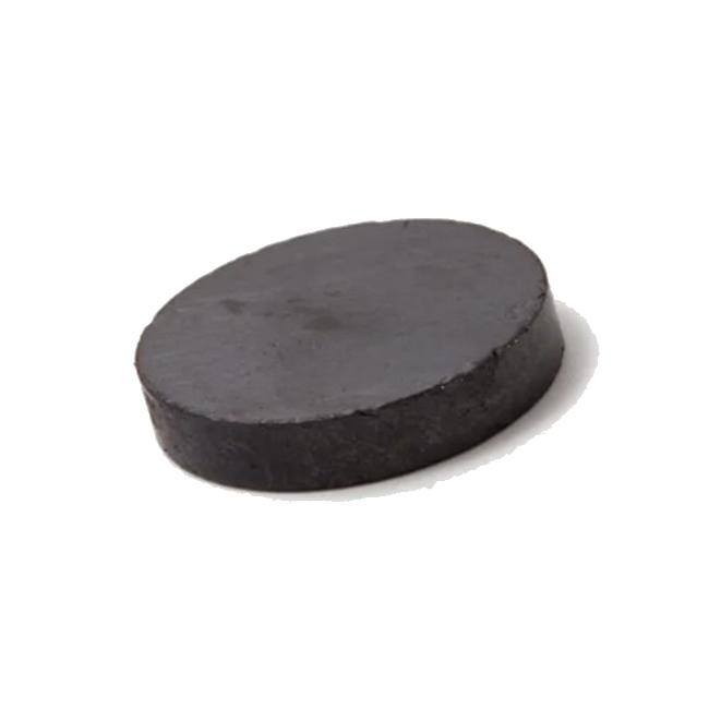 Single Pole Flat Round Disc Ferrite Magnet