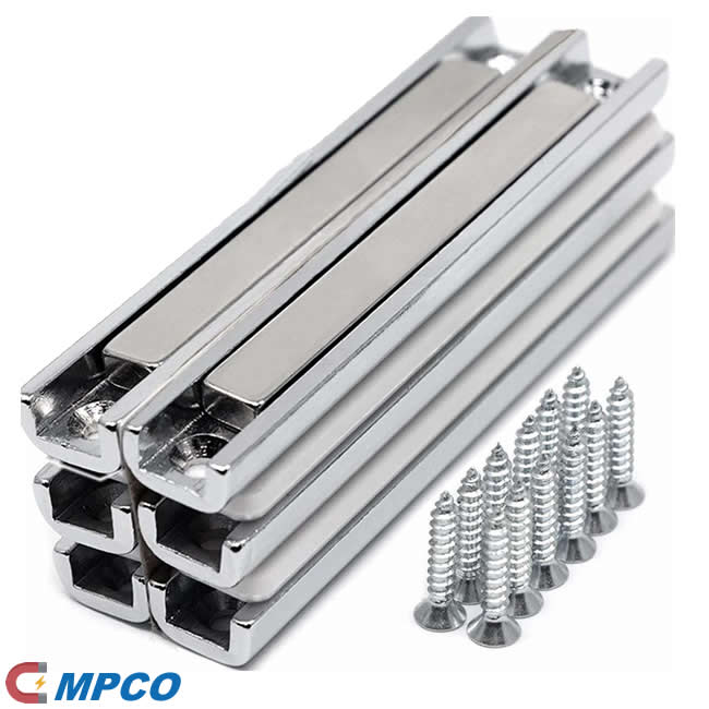 Strong Neodymium Channel Magnets with Countersunk Holes Doors, Cabinets or Gun Mount Magnets Screws