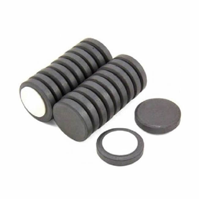 Y10 Disc Ferrite Magnets with Adhesive Foam Pad D25mmX5mm