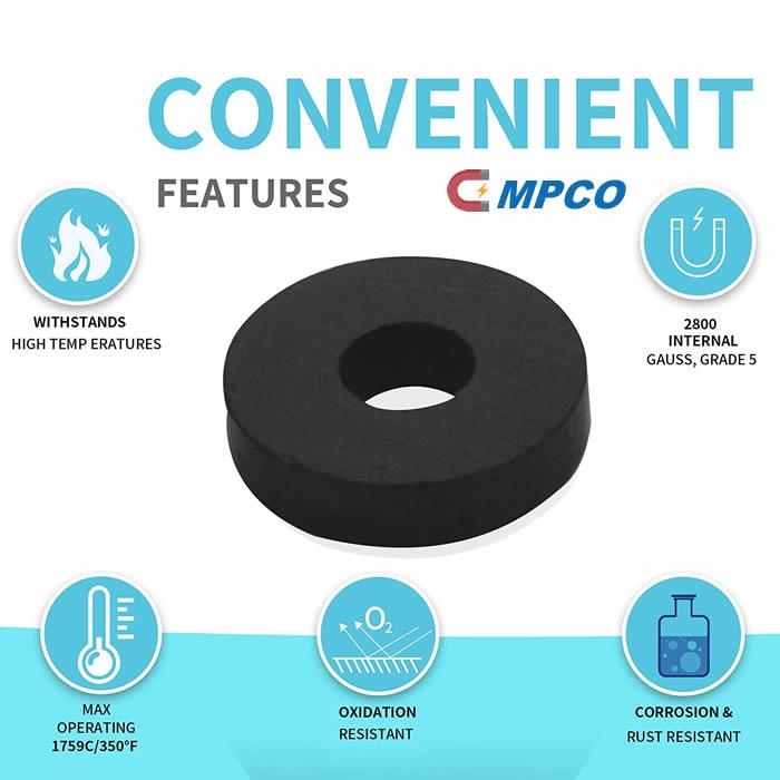 convenient features of ceramic ring magnet