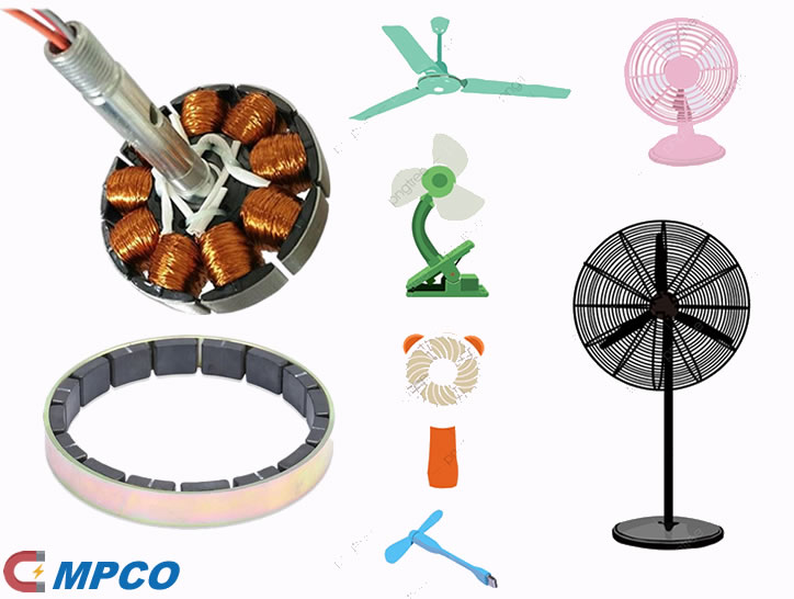 Motor Magnets for Electric Fans