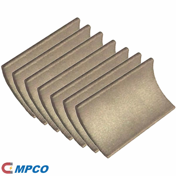 SmCo Rare earth curved tile magnets