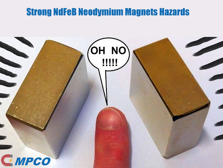Strong NdFeB Neodymium Magnets Hazards