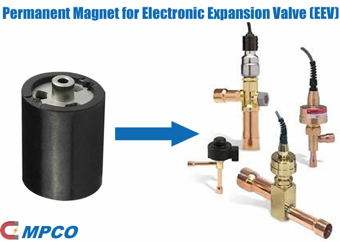 plastic injection molded permanent magnet for electronic expansion valve
