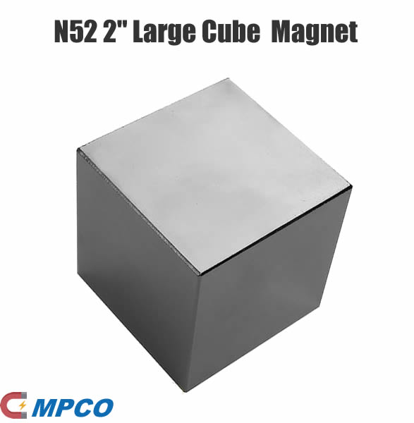 N52 2 Large Cube Magnets Rare Earth Neodymium