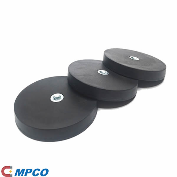 31mmdia x 6mmthick Rubber Coated N42 Neodymium Pot Magnets