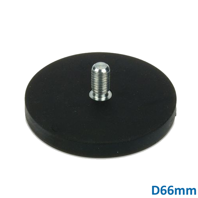 66mm Neodymium Pot Clamping Magnets with External Screw Thread