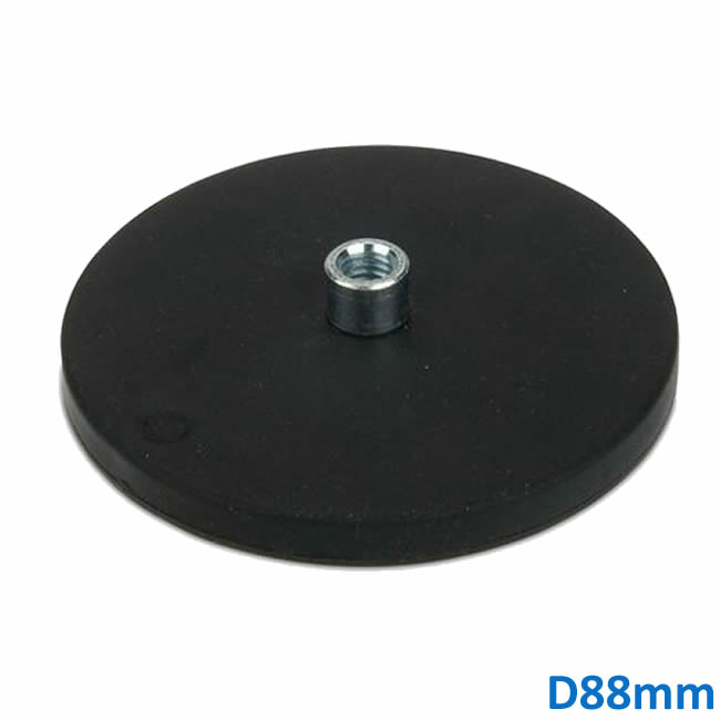 Big Size Rubber Coated Car Vehicle Magnet Mount Holder D88mm