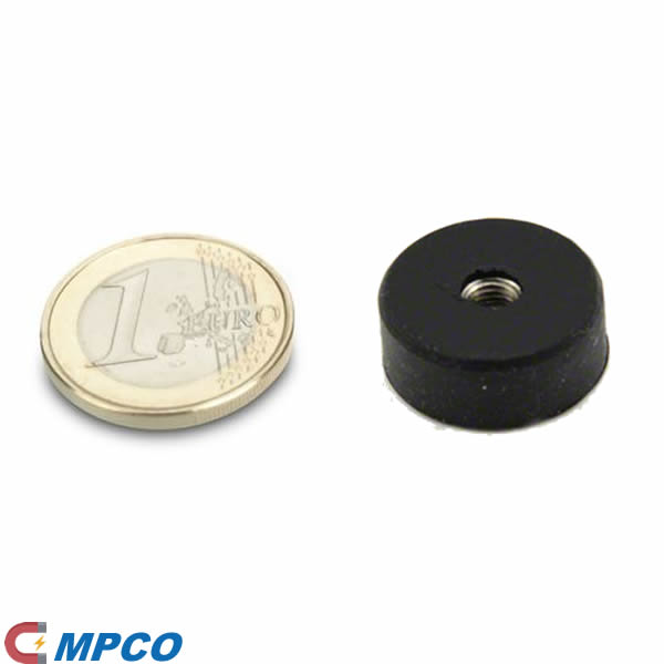 D22mm Rubber Coated Multiple-pole Neodymium Magnet System