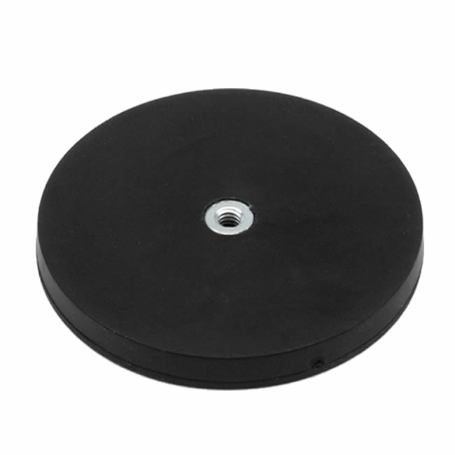 D88mm Rubber Coated POS Magnet for Car Roof