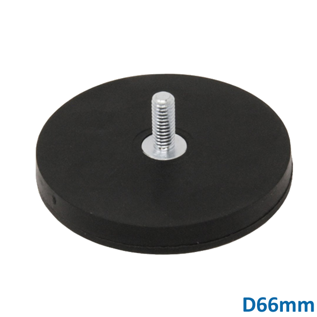 Dia 66mm NdFeB Pot Mounting Male Thread Magnets