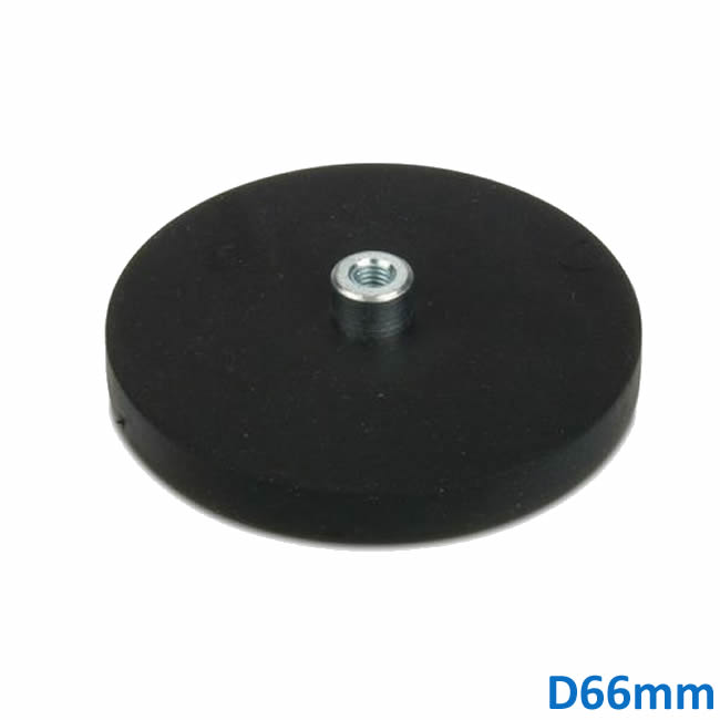 Dia 66mm Rubber Cover LED Signal Lighting Magnetic Mount